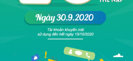 Viettel khuyến mãi 30/9/2020 NGÀY VÀNG tặng 20% tiền nạp