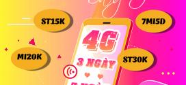 Cách đăng ký gói cước 4G Viettel 3 ngày 7 ngày giá cực rẻ ưu đãi khủng