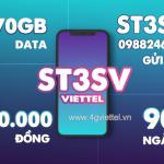 Đăng ký gói ST3SV Viettel có ngay 270GB data chỉ với 360.000đ