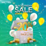 Black Friday Viettel giảm 20% cước đăng ký gói data gọi thoại
