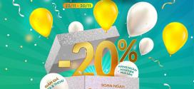 Siêu Sale Black Friday Viettel tặng 20% phí gói cước 23/11 – 30/11/2020