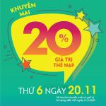 Viettel khuyến mãi 20/10/2020 ưu đãi NGÀY VÀNG tặng 20% giá trị tiền nạp