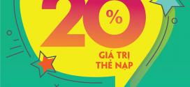 Khuyến mãi Viettel 20/11/2020 NGÀY VÀNG tặng 20% giá trị mỗi thẻ nạp