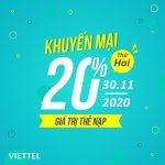 Viettel khuyến mãi 30/11/2020 ưu đãi NGÀY VÀNG toàn quốc