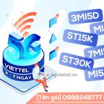 Đăng ký gói cước 5G Viettel 3 ngày - 7 ngày chỉ từ 5k/ngày siêu hấp dẫn