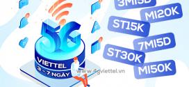 Đăng ký gói cước 5G Viettel 3 ngày, 7 ngày rẻ nhất chỉ từ 5k/ngày