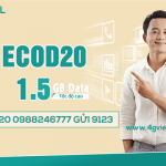 Cách đăng ký gói ECOD20 Viettel nhận ngay 1,5GB data chỉ với 20k/tháng