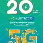 Viettel khuyến mãi 10/12/2020 NGÀY VÀNG tặng 20% giá trị tiền nạp