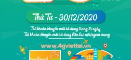 Viettel khuyến mãi 30/12/2020 NGÀY VÀNG tặng 20% giá trị thẻ nạp