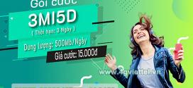 Đăng ký gói cước 3MI5D Viettel có ngay 1500MB data chỉ với 15k/3 ngày