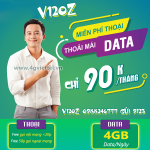 Đăng ký gói cước V120Z Viettel chỉ với 90k có ngày 120GB và triệu phút gọi miễn phí