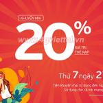 Khuyến mãi Viettel 27/2/2021 NGÀY VÀNG tặng 20% giá trị tiền nạp