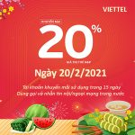 Viettel khuyến mãi 20/2/2021 NGÀY VÀNG tặng 20% giá trị thẻ nạp