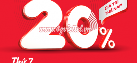 Viettel khuyến mãi 20/3/2021 NGÀY VÀNG tặng 20% tiền nạp