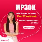 Cách đăng ký gói MP30K Viettel miễn phí tất cả các cuộc gọi nội mạng dưới 10 phút