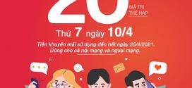 Khuyến mãi Viettel ngày 10/4/2021 ưu đãi NGÀY VÀNG toàn quốc