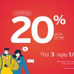 Viettel khuyến mãi 31/5/2021 ưu đãi NGÀY VÀNG tặng 20% giá trị tiền nạp