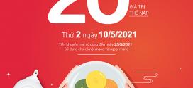 Viettel khuyến mãi 10/5/2021 NGÀY VÀNG nạp thẻ tặng 20% tiền nạp
