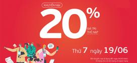Viettel khuyến mãi 19/6/2021 NGÀY VÀNG tặng 20% giá trị tiền nạp