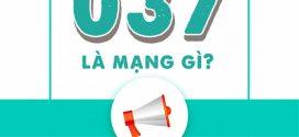 Đầu số 037 là mạng gì? Ý nghĩa sim đầu số 037 là gì?