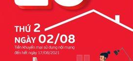 Khuyến mãi Viettel 2/8/2021 ưu đãi NGÀY VÀNG tặng 20% tiền nạp