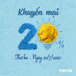 Viettel khuyến mãi 20/7/2021 ưu đãi NGÀY VÀNG toàn quốc