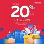 Viettel khuyến mãi 20/8/2021 tặng 20% giá trị tiền nạp