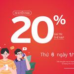 Khuyến mãi Viettel 1/10/2021 tặng 20% thẻ nạp ngày vàng