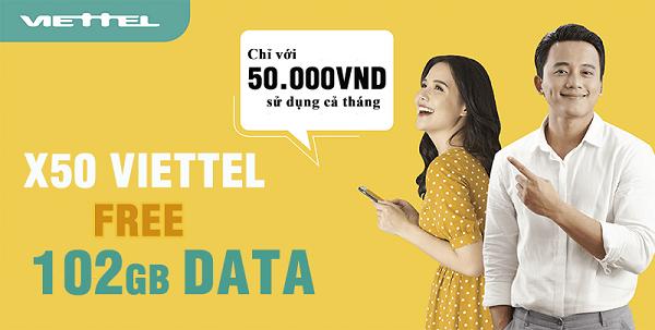 Đăng ký 4G Viettel 50.000đ/tháng 100GB