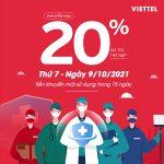 Viettel khuyến mãi 9/10/2021 NGÀY VÀNG tặng 20% giá trị tiền nạp
